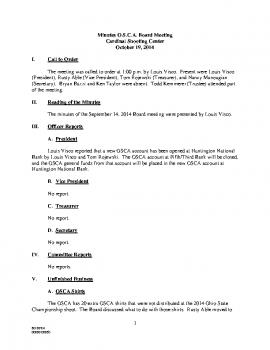 OSCA Minutes 10.19.14