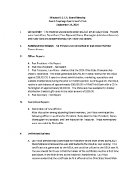 OSCA Minutes 9.14.14