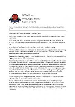 5-14-21 Meeting